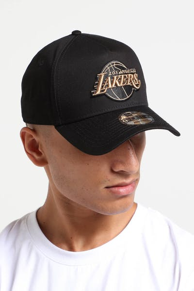 New Era Los Angeles Lakers 9FORTY A-Frame Snapback Black/Wheat