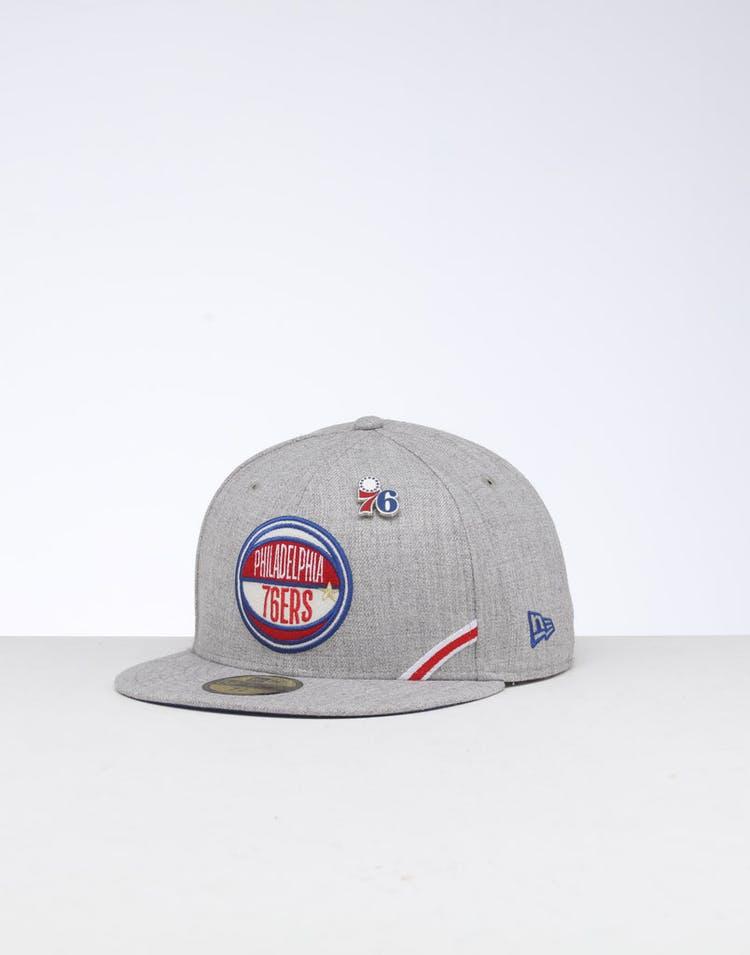 buy popular dc314 709e9 New Era Philadelphia 76ers 59FIFTY NBA Draft Fitted Dark Blue OTC