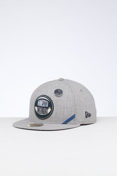 huge selection of 508bc 19431 New Era Minnesota Timberwolves 59FIFTY NBA Draft Fitted Navy OTC ...