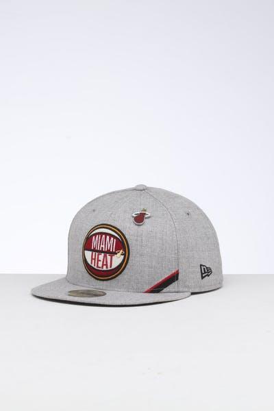 official photos 80545 6b931 New Era Miami Heat 59FIFTY NBA Draft Fitted Black OTC ...
