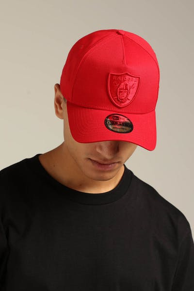 New Era Raiders 9FORTY A-Frame Snapback Scarlet/Red Check