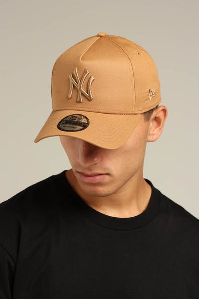 New Era New York Yankees 9FORTY A-Frame Snapback Wheat/Brown Check