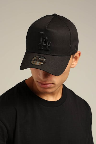 New Era Los Angeles Dodgers 9FORTY A-Frame Snapback Black/Yellow Tartan