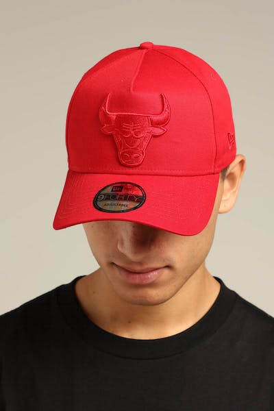 New Era Chicago Bulls 9FORTY A-Frame Snapback Scarlet/Red Check