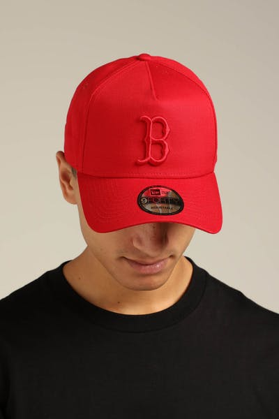 New Era Boston Red Sox 9FORTY A-Frame Snapback Scarlet/Red Check