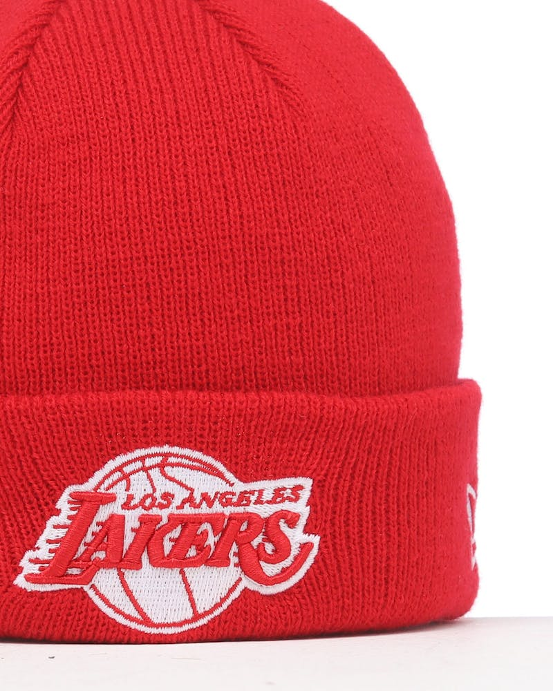New Era Infant Los Angeles Lakers 6 Dart Cuff Beanie Scarlet/White