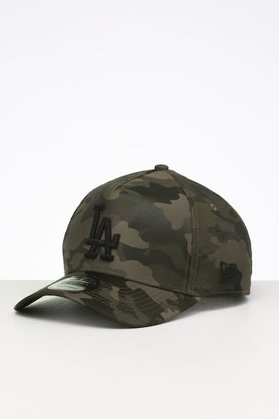 New Era Los Angeles Dodgers 9FORTY A-Frame Satin Snapback Olive Camo