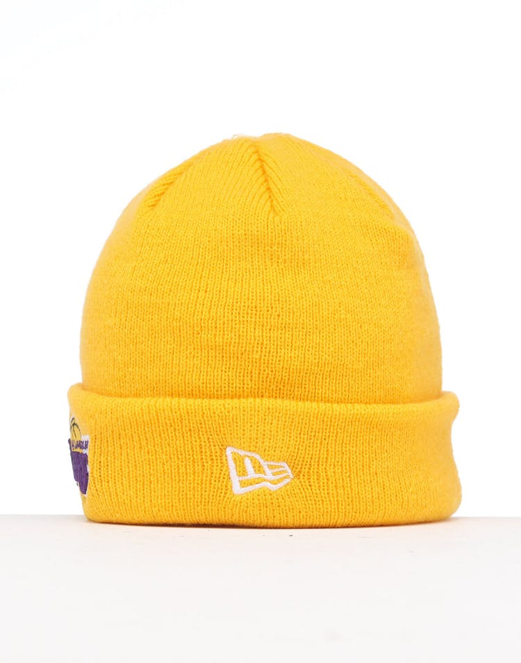 New Era Infants Los Angeles Lakers 6 Dart Cuff Beanie Gold/OTC