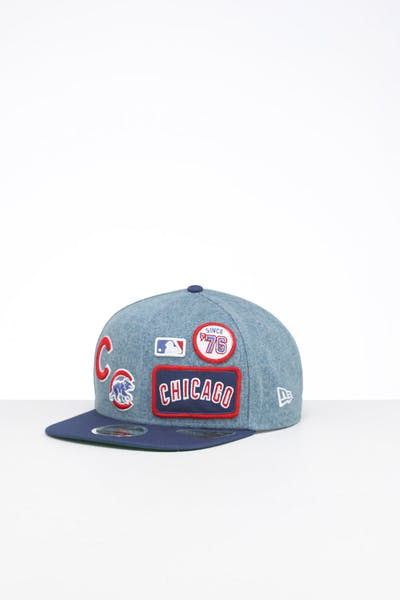 New Era Chicago Cubs 9FIFTY Patch High Crown Snapback Denim/OTC
