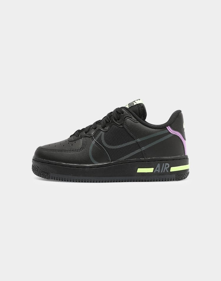 Kids Air Force 1 React (GS) Black/Anthracite/Violet