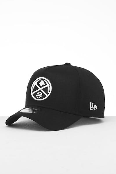New Era Denver Nuggets 9FORTY K-Frame Snapback Black/White