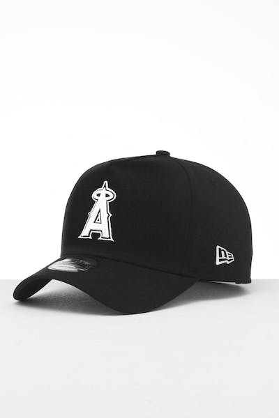 nice shoes 20b68 664ca New Era Los Angeles Angels 9FORTY K-Frame Snapback Black White ...