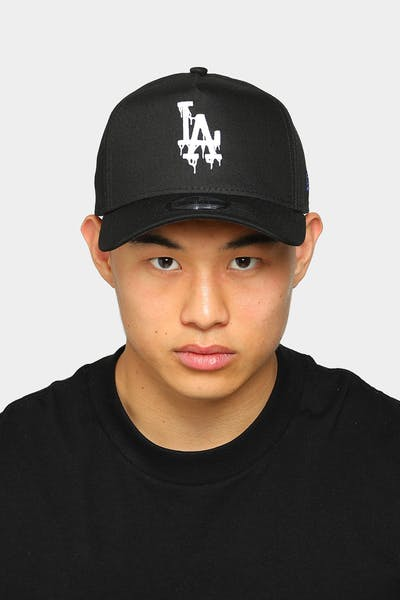 New Era Los Angeles Dodgers Drip Logo 9FORTY A-Frame Snapback Black