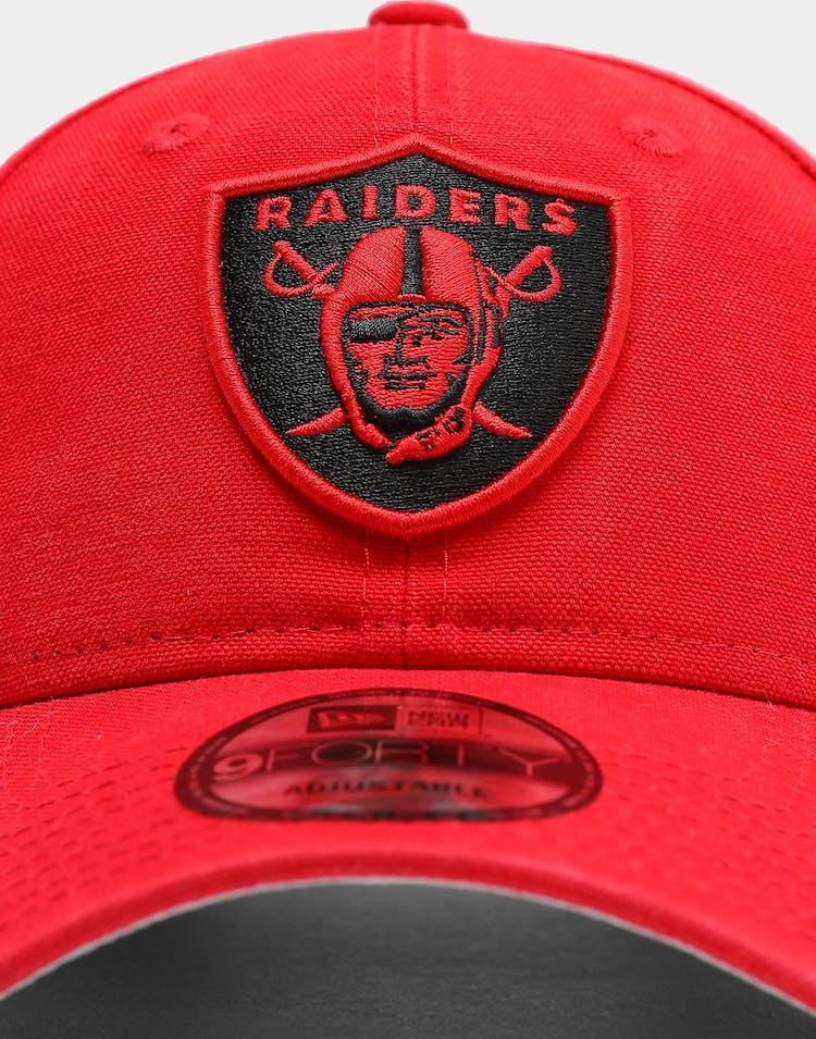 Raiders Canvas 9FORTY NFL Strapback