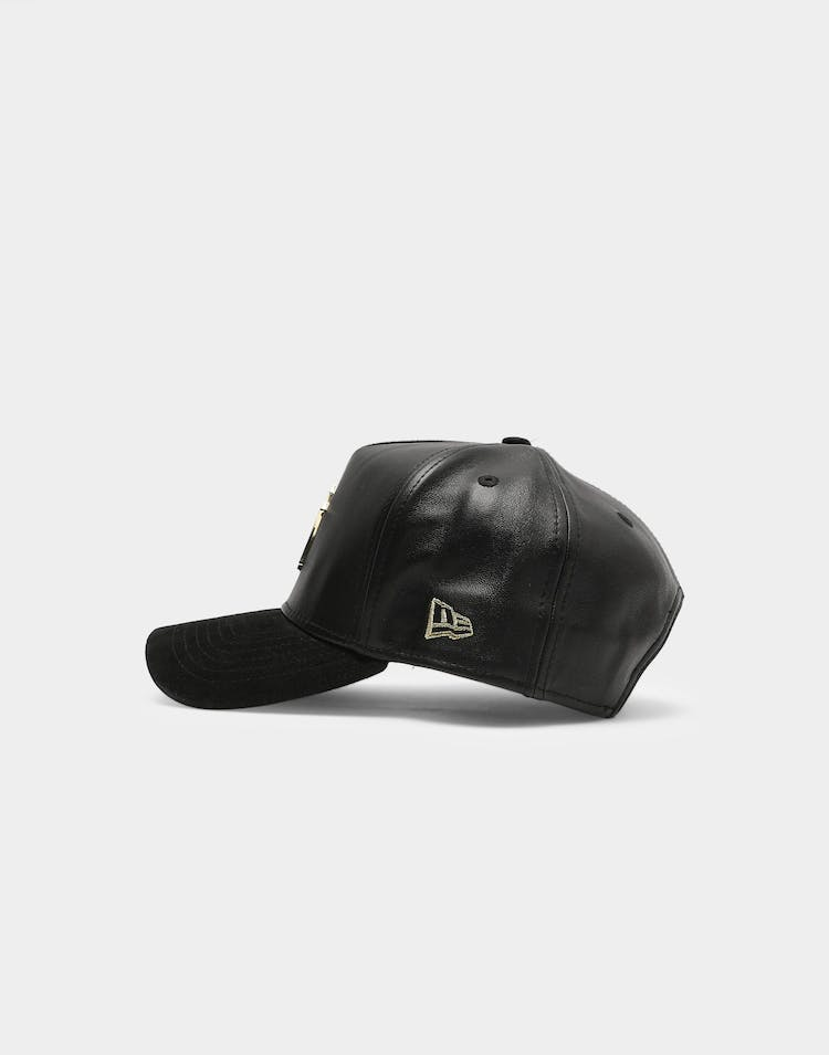 New Era New York Yankees Lamb Skin Suede Metal 9FORTY K-Frame Snapback Black/Gold
