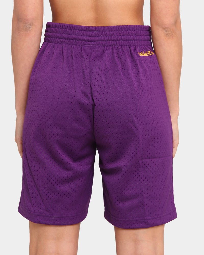 Mitchell & Ness Men's Los Angeles Lakers Team Mesh Shorts Purple