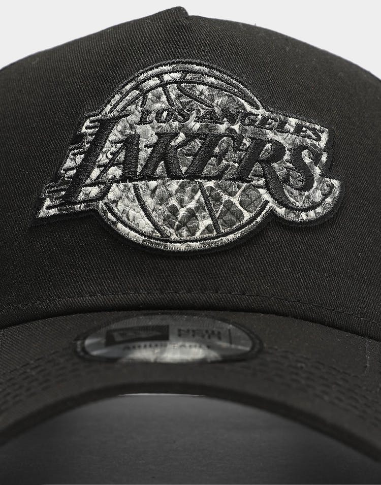 New Era Los Angeles Lakers Snakeskin Logo 9FORTY K-Frame Snapback Black