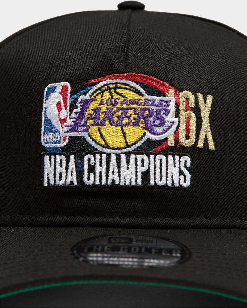 New Era Los Angeles Lakers 16x Champs Crc Old Golfer Snapback Black Ot Culture Kings Us