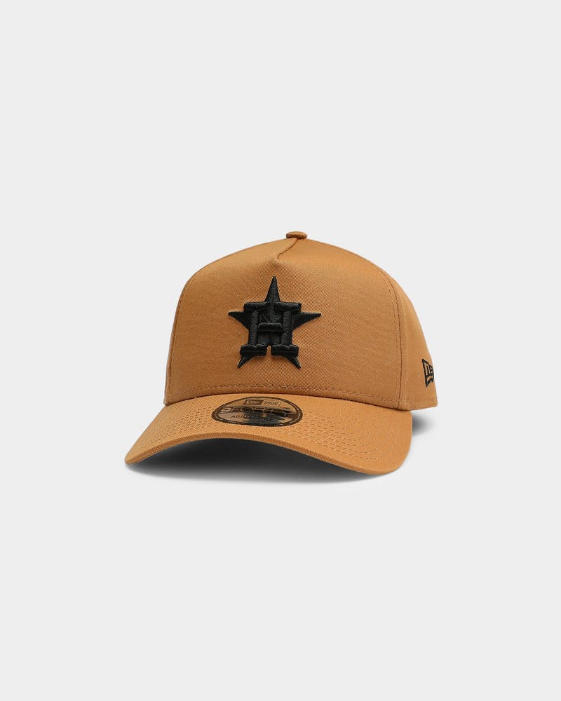 New Era Houston Astros 9FORTY A-Frame Snapback Wheat/Black