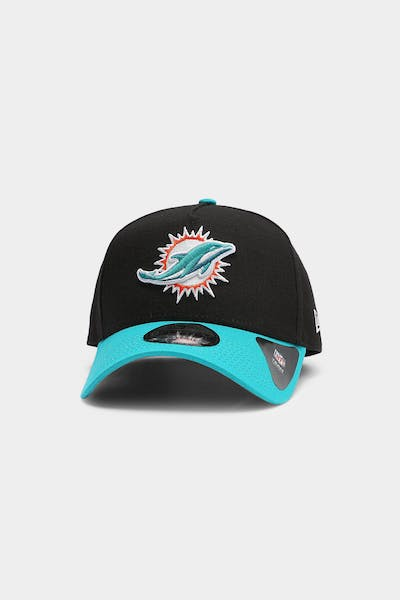 New Era Miami Dolphins OTC 9FORTY A-Frame Snapback Black/Teal
