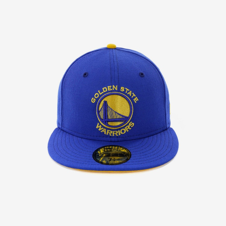 New Era Golden State Warriors 59FIFTY Fitted Blue – Culture Kings US a7ca1c05a65
