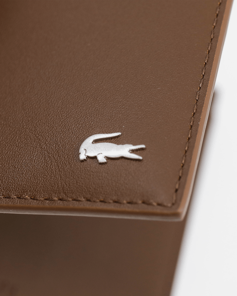 Lacoste Small Billfold Coin Wallet Bison