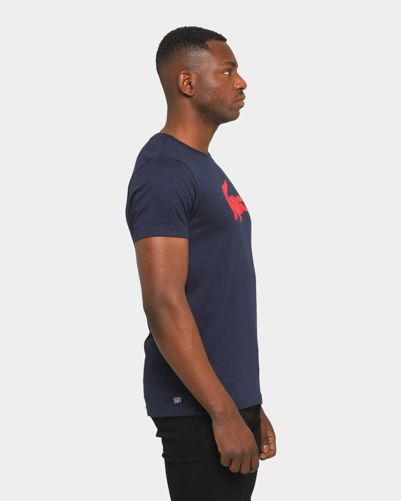 Lacoste Big Croc T-Shirt Navy/Red