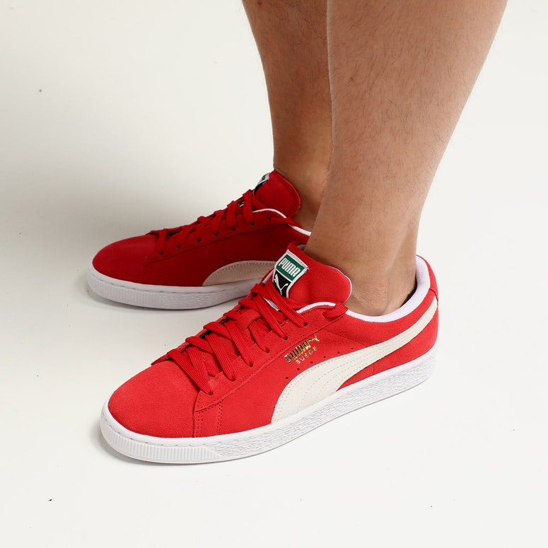 Puma Suede Classics+ High Risk Red/White