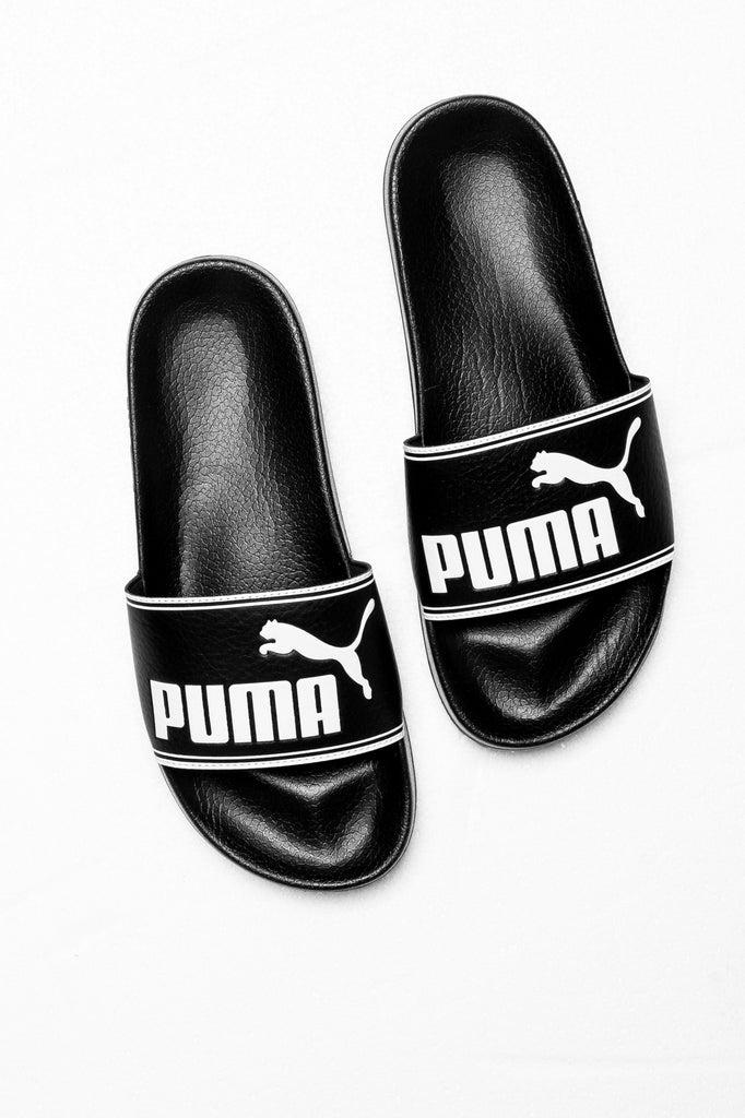 Puma Leadcat Slide Blackwhite