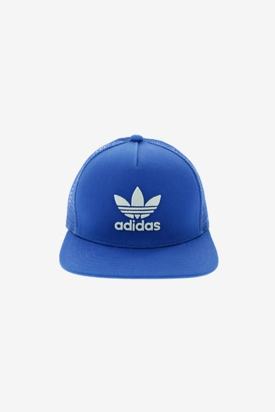 Adidas Originals Women's Trefoil Flat Peak Trucker Blue