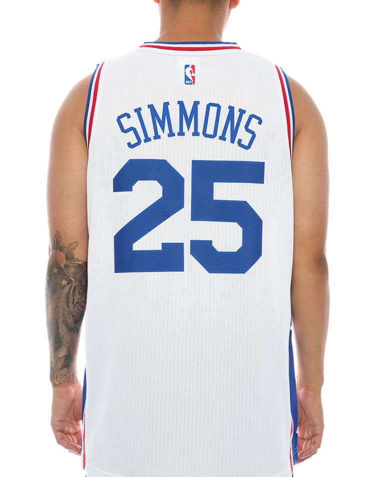 pretty nice 64113 29146 Adidas Performance Philadelphia 76ers Ben Simmons Swingman Jersey White