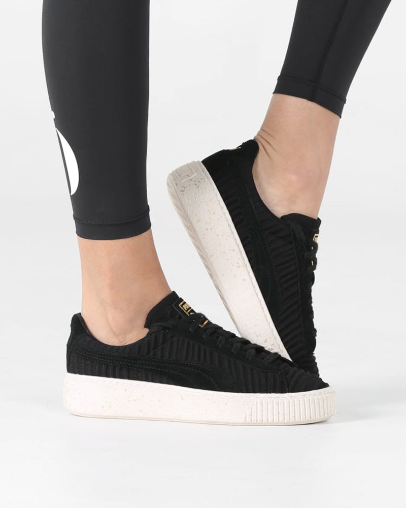 Puma Women's Basket Platform OW Black/Off White