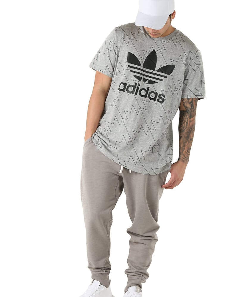 Adidas Originals Trefoil AOP Tee Grey Heather