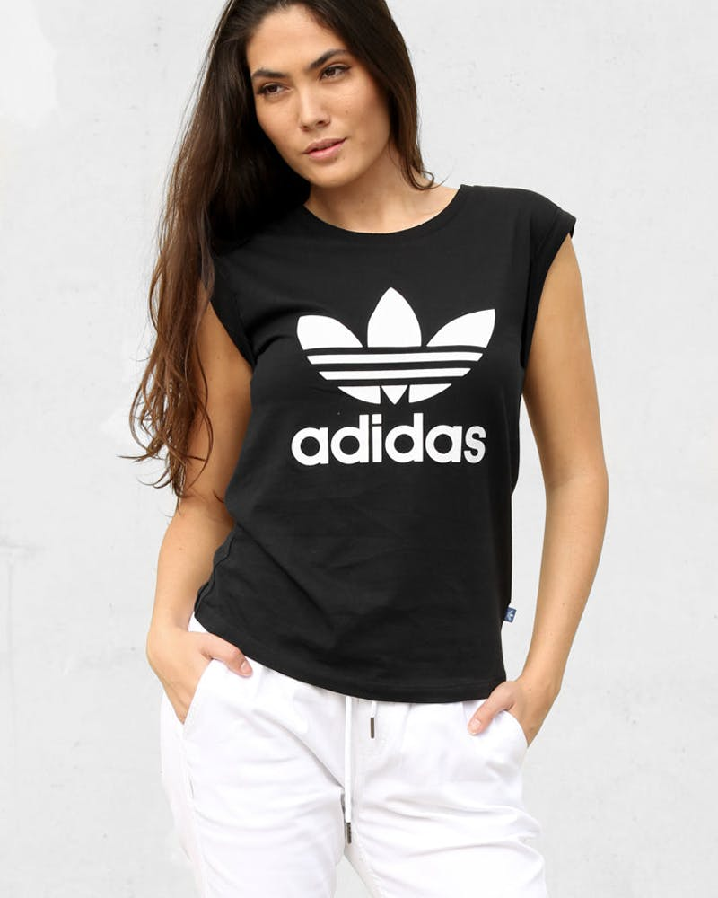 Adidas Originals Women's Boyfriend Trefoil Tee Black
