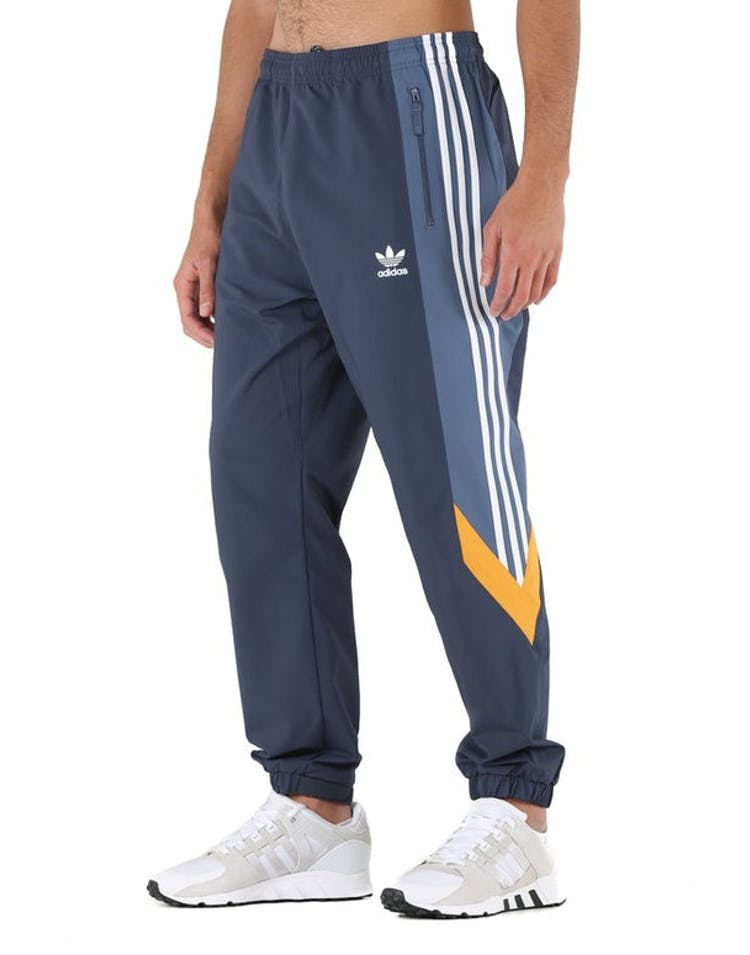 many styles autumn shoes classic shoes Adidas Originals Blocked Nova Wind Pant Dark Blue/Mustard
