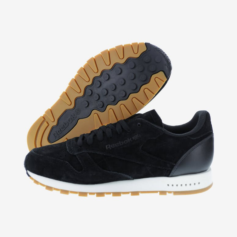 109e7113d04 Reebok CL Leather SG Black White Gum