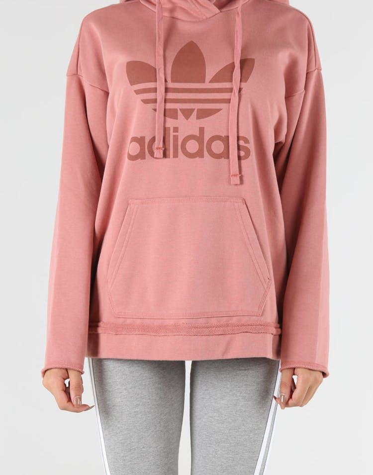 f58849a46a Adidas Originals Women's Trefoil Hoodie Raw Pink