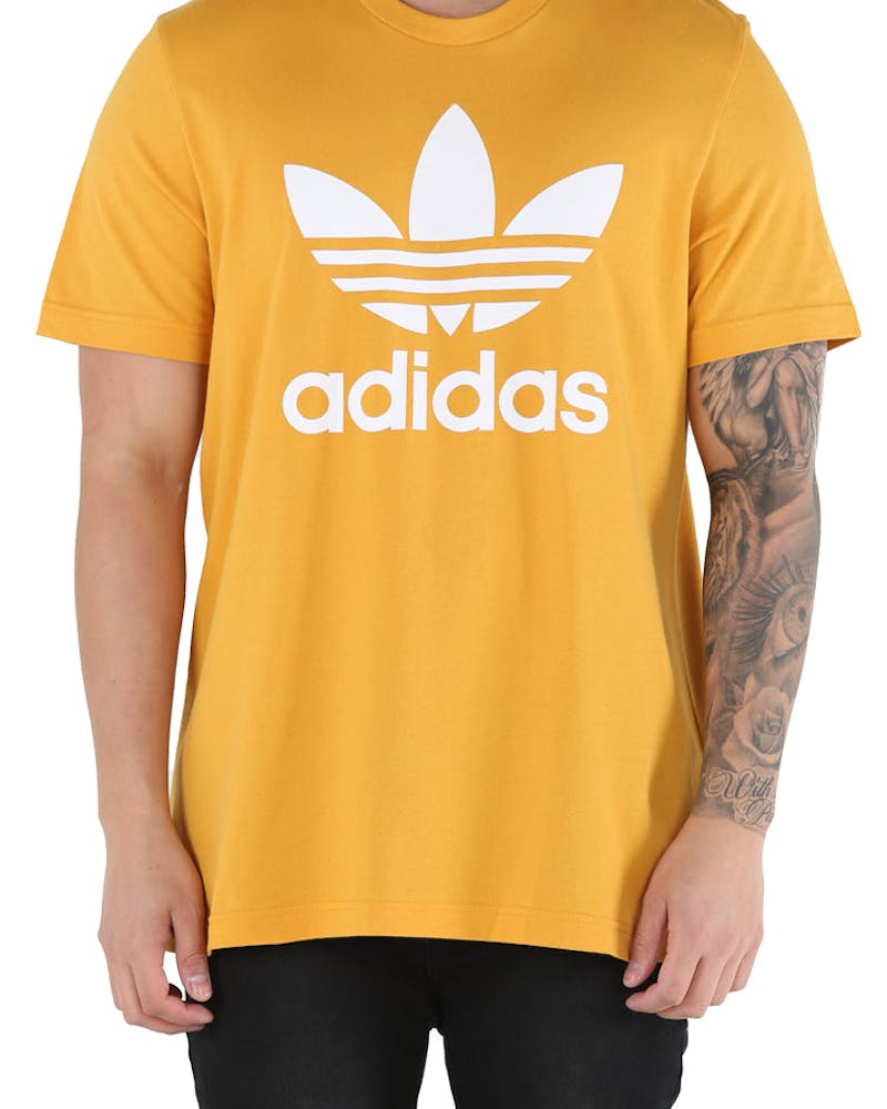 Adidas Original Trefoil Tee Yellow