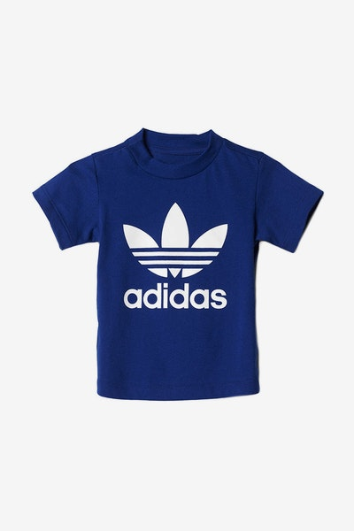 Adidas Infant Trefoil Tee Dark Navy/White