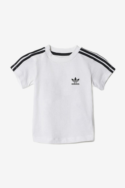 Adidas Infant 3 Stripes Tee White/Black