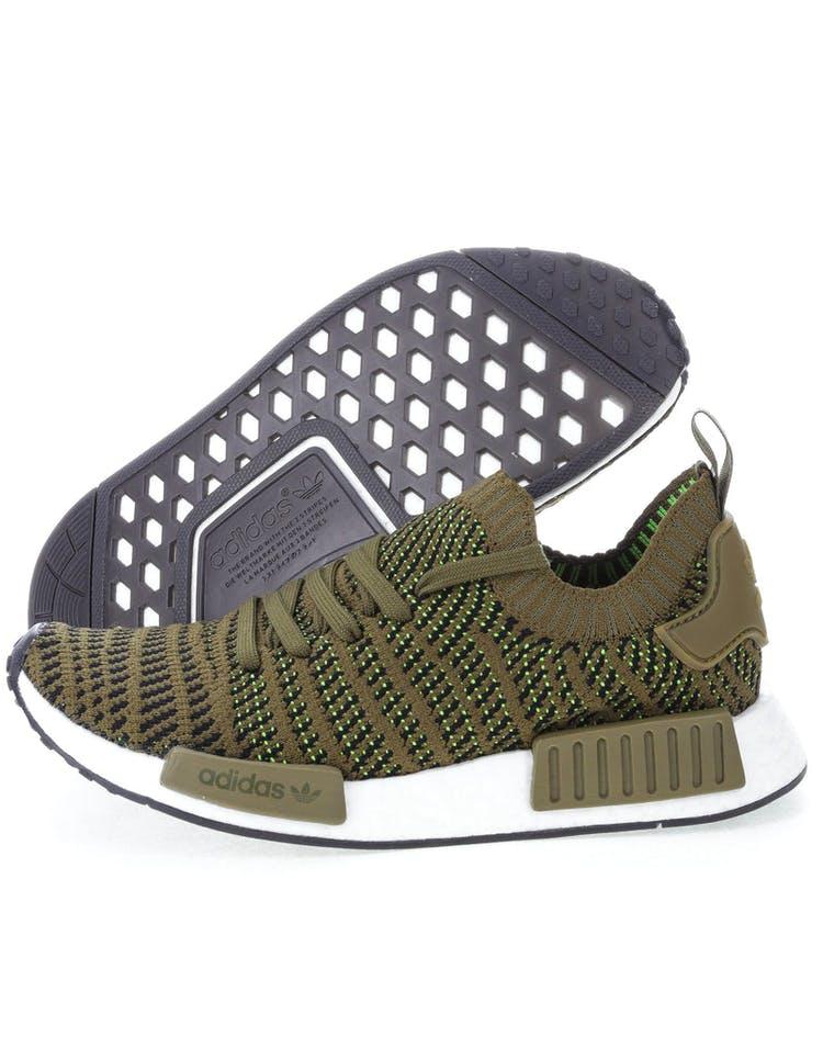 new styles db7f4 b7620 Adidas Originals NMD R1 STLT Primeknit Green/Black/White