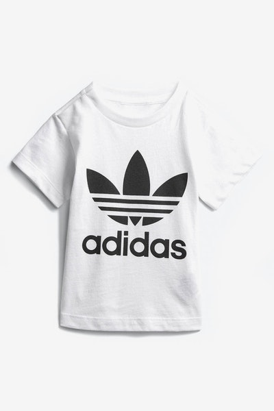 Adidas Infant Trefoil Tee White/Black