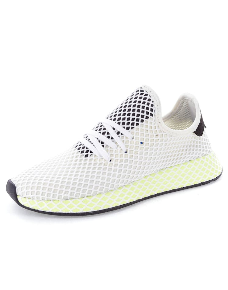 d3c033aa29130 Adidas Originals Deerupt Runner White Black