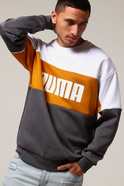 Puma Retro Crew Grey/White