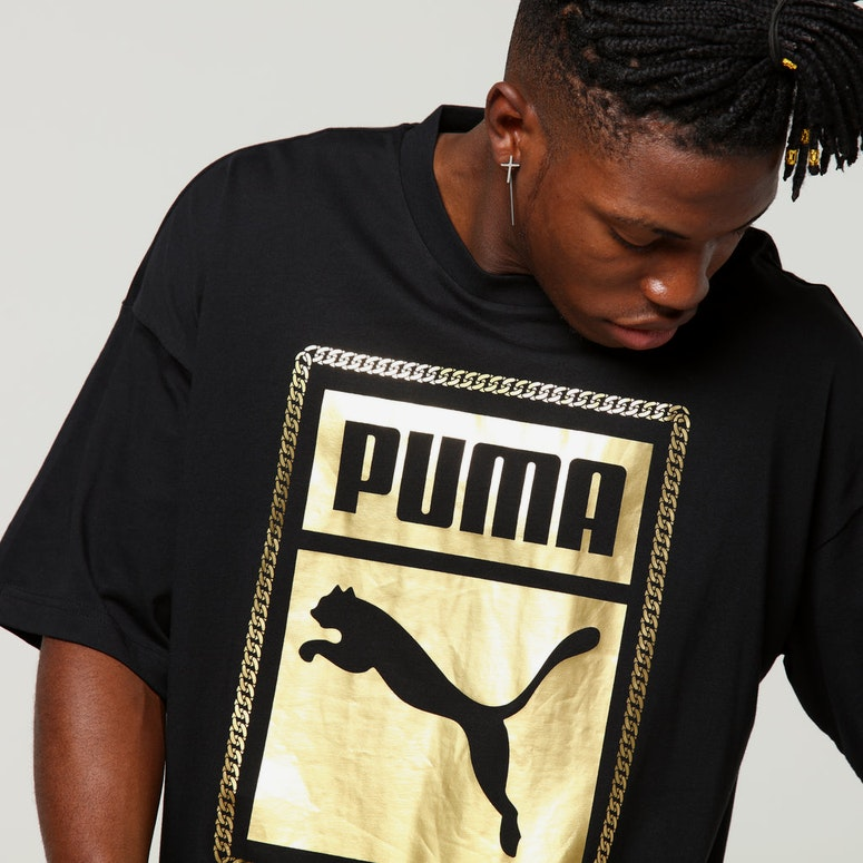 Puma Chains Tee Black/Gold