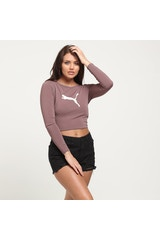 PUMA WOMEN'S LUXE CROP LIGHT BROWN