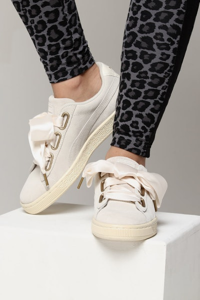 Puma Women's Suede Heart Satin White