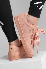 PUMA WOMEN'S SUEDE HEART SATIN DUSTY ORANGE
