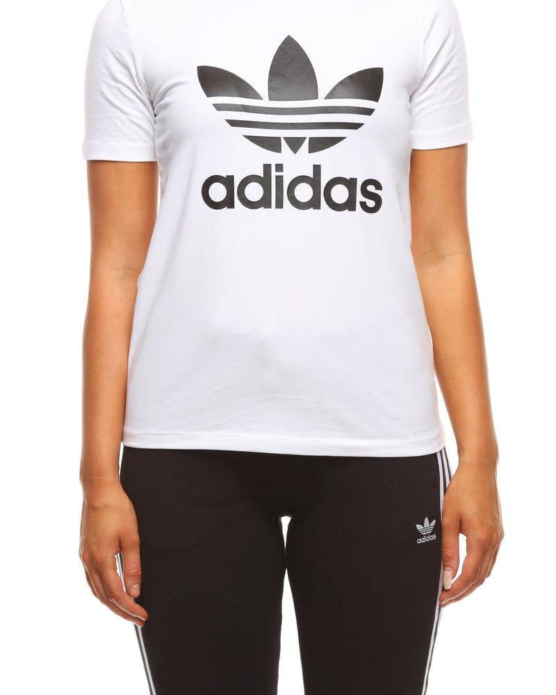 Adidas Women's Trefoil Tee White/Black