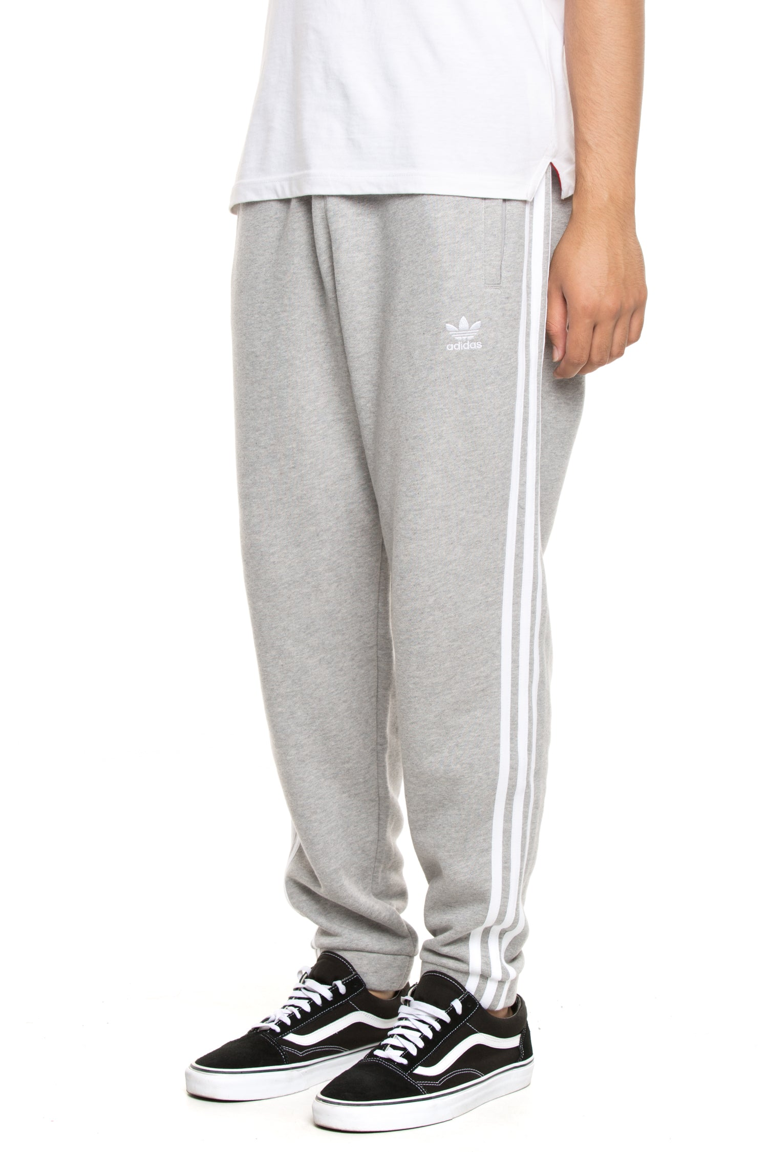 Adidas 3-Stripes Slim Fit Jogger Pants  Size XL  Dark Heather Grey//Black NEW NWT